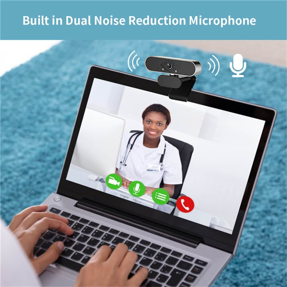 Usb Web Camera 1080p Hd Auto Focus Free Driver Built In Noise Reduction Microphone (1)