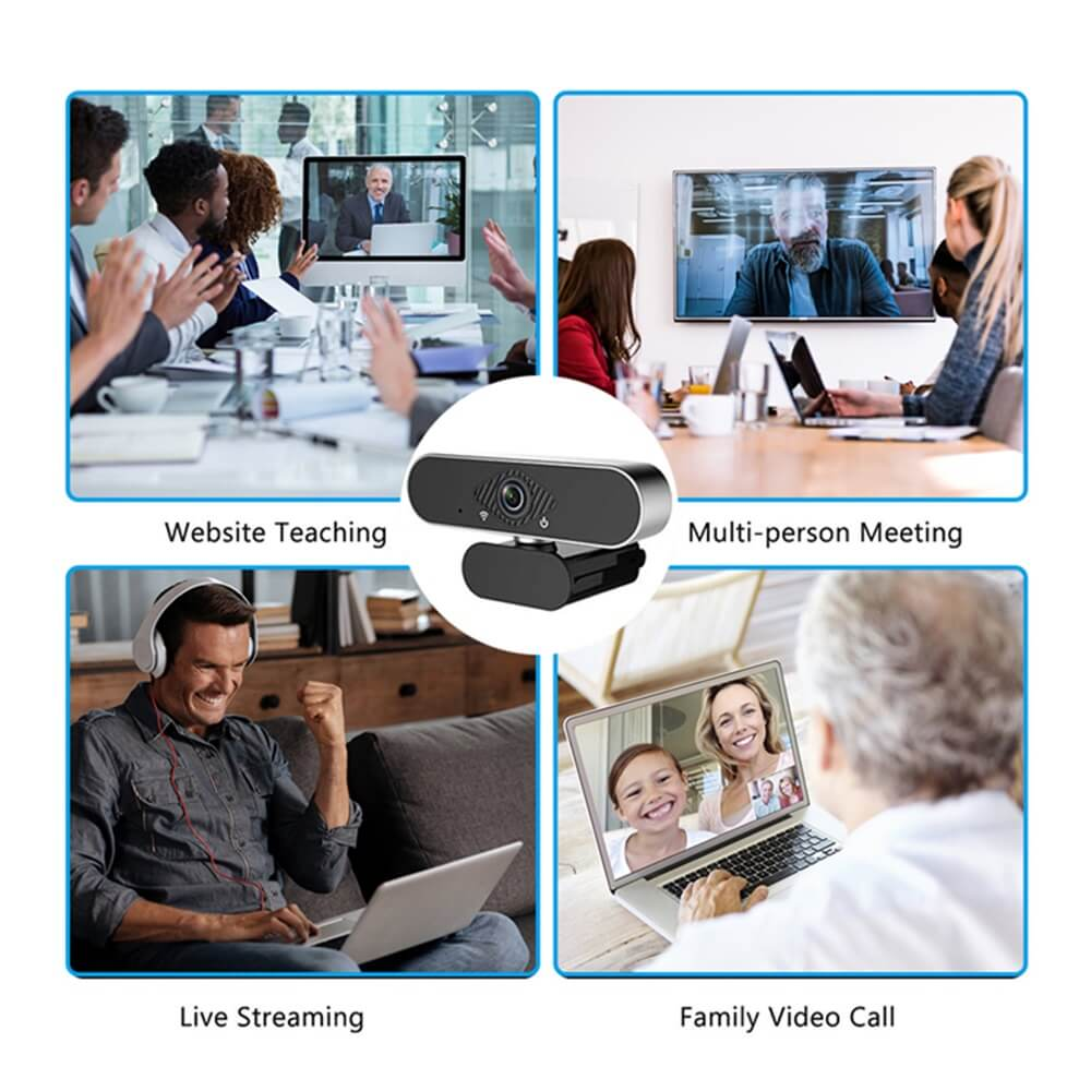 Usb Web Camera 1080p Hd Auto Focus Free Driver Built In Noise Reduction Microphone (3)