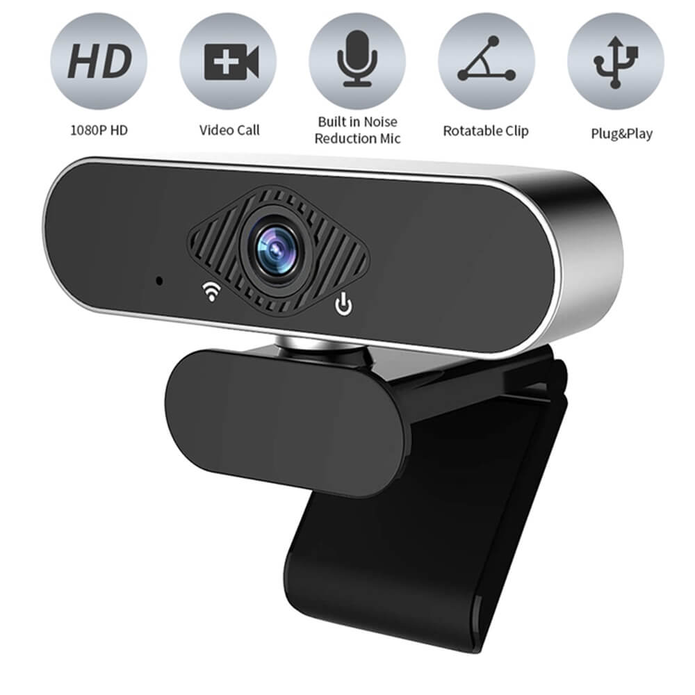 Usb Web Camera 1080p Hd Auto Focus Free Driver Built In Noise Reduction Microphone (4)