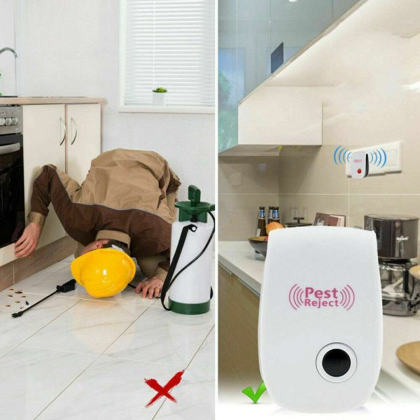 Ultrasonic Plug In Pest Repeller Deter Mouse Mice Rat Spider Insect Repellent (12)