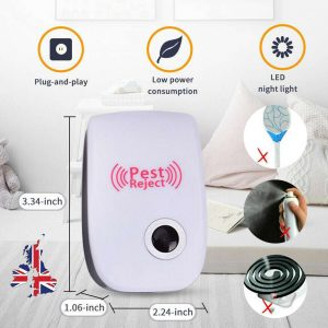 Ultrasonic Plug In Pest Repeller Deter Mouse Mice Rat Spider Insect Repellent (2)