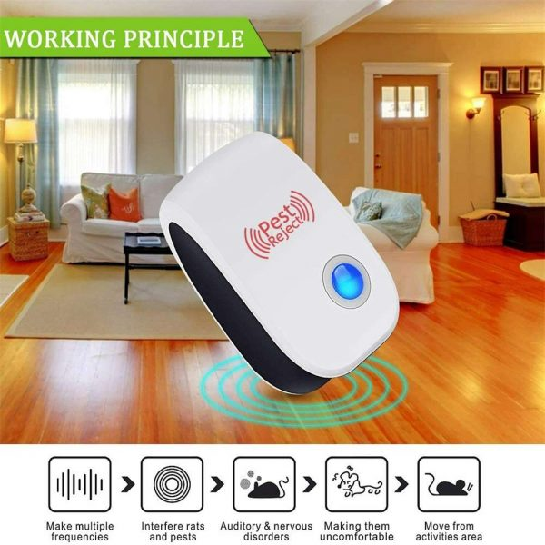 Ultrasonic Plug In Pest Repeller Deter Mouse Mice Rat Spider Insect Repellent (9)