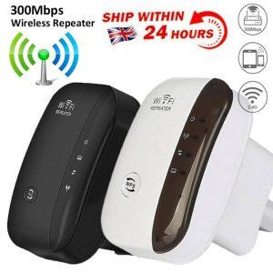 Wifi Range Repeater Amplifier Wireless Signal Extender Network Booster Uk Plug (1)