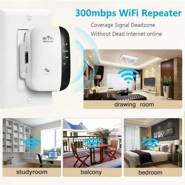Wifi Range Repeater Amplifier Wireless Signal Extender Network Booster Uk Plug (11)