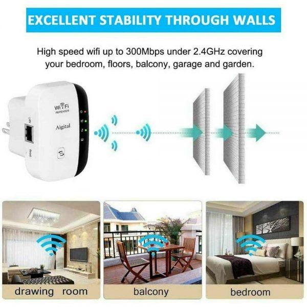 Wifi Range Repeater Amplifier Wireless Signal Extender Network Booster Uk Plug (14)
