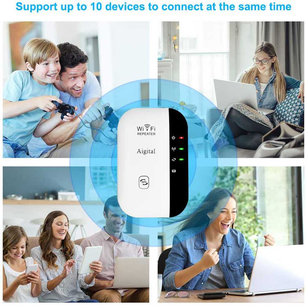 Wifi Range Repeater Amplifier Wireless Signal Extender Network Booster Uk Plug (15)