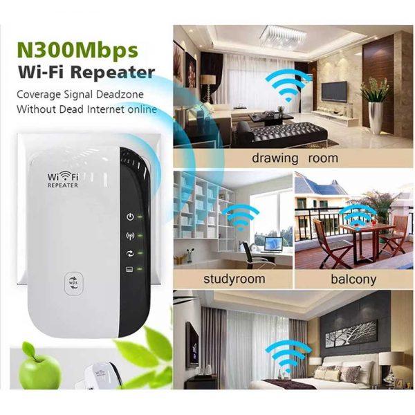Wifi Range Repeater Amplifier Wireless Signal Extender Network Booster Uk Plug (18)