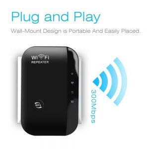 Wifi Range Repeater Amplifier Wireless Signal Extender Network Booster Uk Plug (3)
