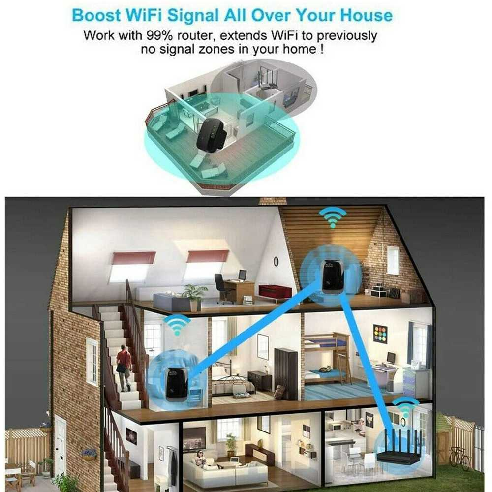 Wifi Range Repeater Amplifier Wireless Signal Extender Network Booster Uk Plug (4)