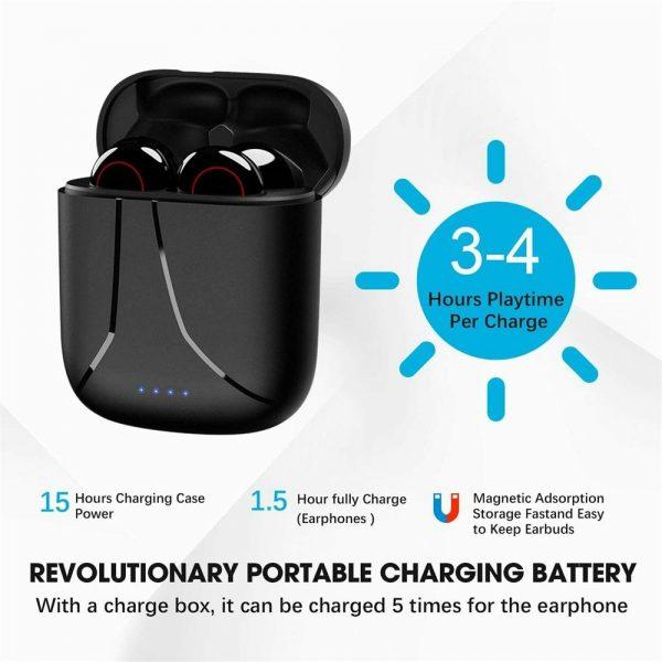 Wireless Bluetooth Earphones Earbuds Sports Ear Hook Run Headset (12)