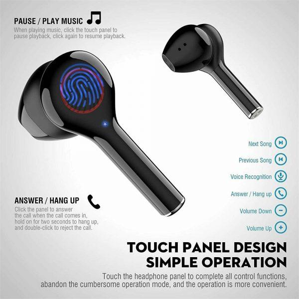Wireless Bluetooth Earphones Earbuds Sports Ear Hook Run Headset (9)
