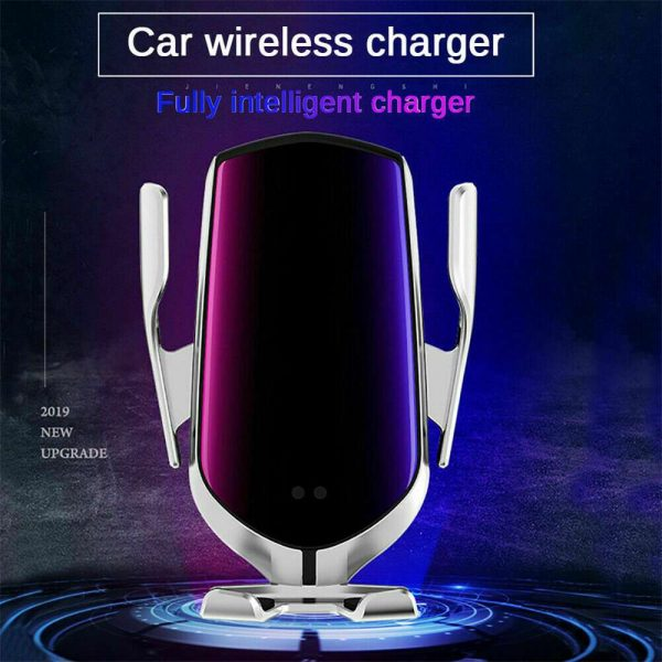 Wireless Car Charger Fast Charging Automatic Sensor Clamping Phone Holder Mount (3)