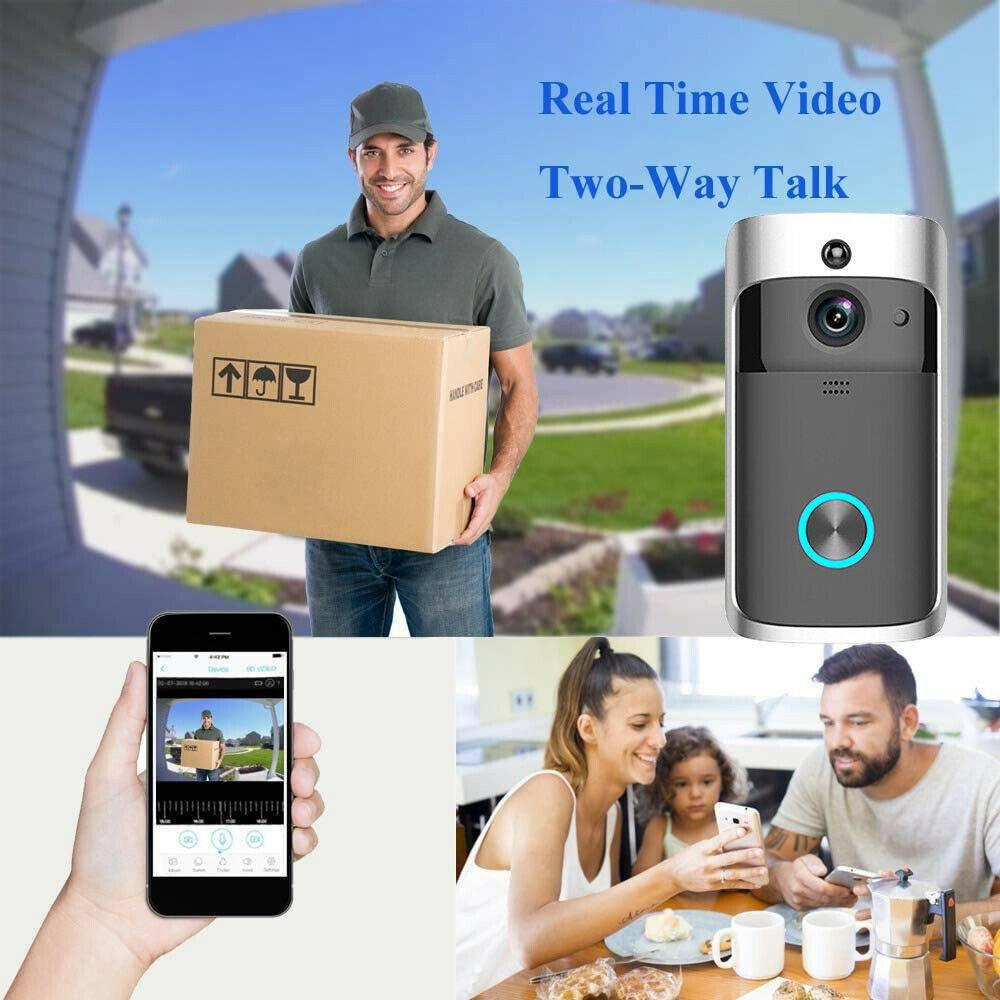 Wireless Wifi Video Doorbell Smart Phone Door Ring Intercom Camera Security Bell (11)