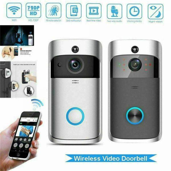 Wireless Wifi Video Doorbell Smart Phone Door Ring Intercom Camera Security Bell (12)
