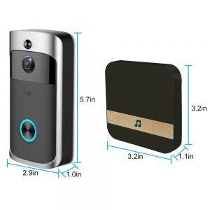 Wireless Wifi Video Doorbell Smart Phone Door Ring Intercom Camera Security Bell (14)