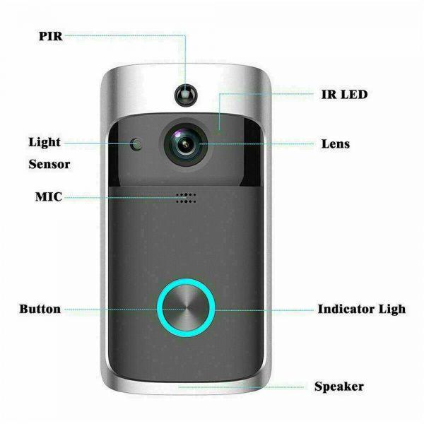 Wireless Wifi Video Doorbell Smart Phone Door Ring Intercom Camera Security Bell (17)