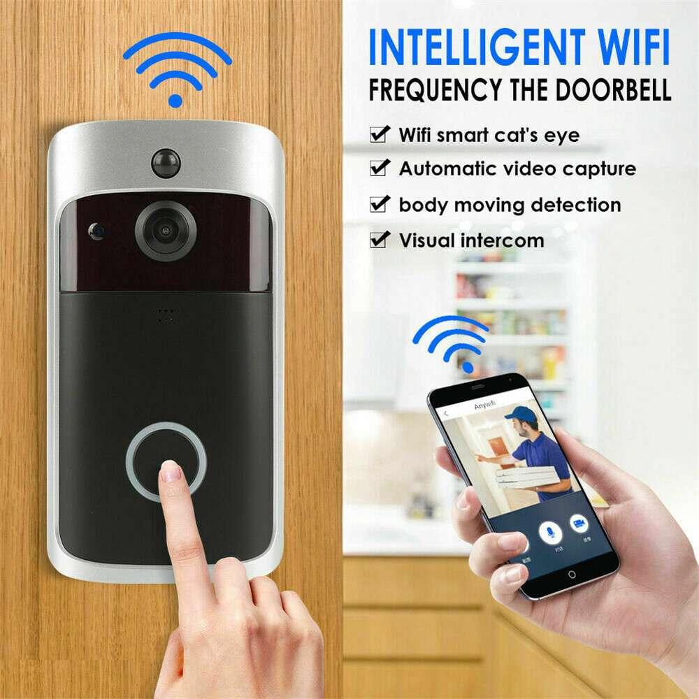 Wireless Wifi Video Doorbell Smart Phone Door Ring Intercom Camera Security Bell (23)