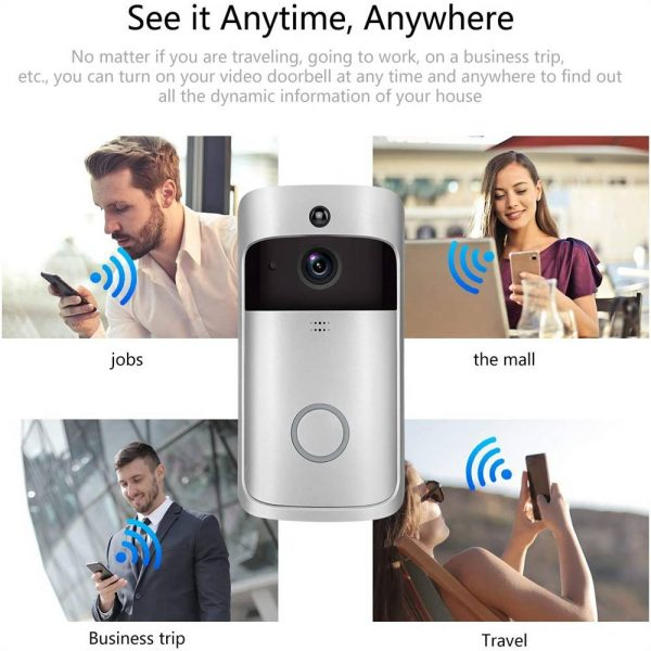 Wireless Wifi Video Doorbell Smart Phone Door Ring Intercom Camera Security Bell (3)