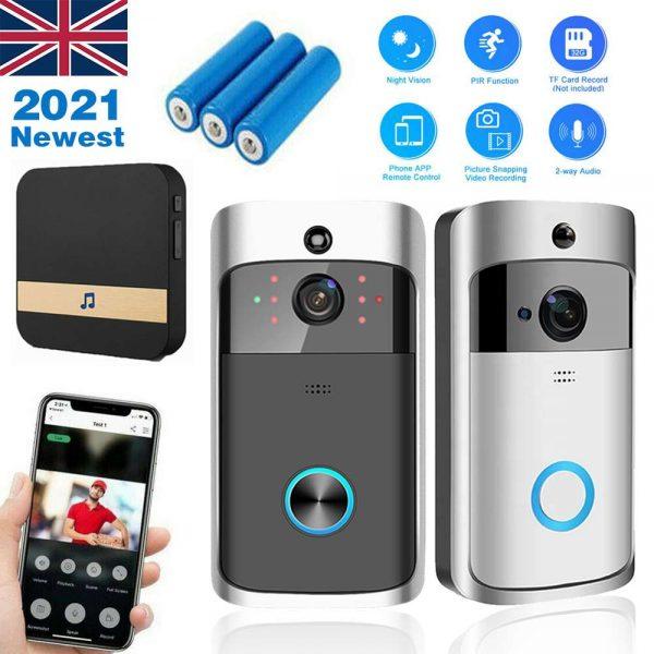 Wireless Wifi Video Doorbell Smart Phone Door Ring Intercom Camera Security Bell (4)