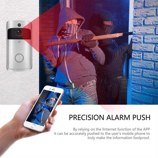 Wireless Wifi Video Doorbell Smart Phone Door Ring Intercom Camera Security Bell (6)