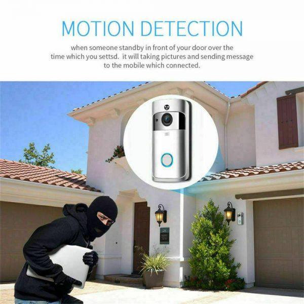 Wireless Wifi Video Doorbell Smart Phone Door Ring Intercom Camera Security Bell (8)
