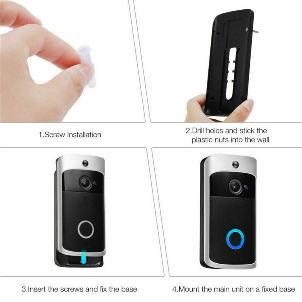 Wireless Wifi Video Doorbell Smart Phone Door Ring Intercom Camera Security Bell (9)