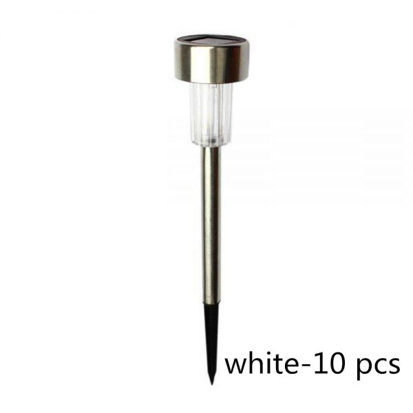 Olar Power Garden Light Waterproof Outdoor Pathway Stick 2510 Packs All In One Stainless Steel Pole 11 副本