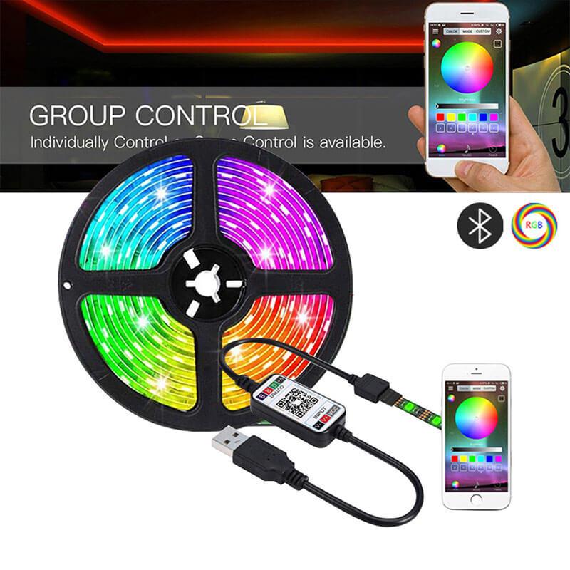 1 5m Led Strip Lights Wifi Controller Full Set Rgb Led Strip Light For Background Light Strip (2)