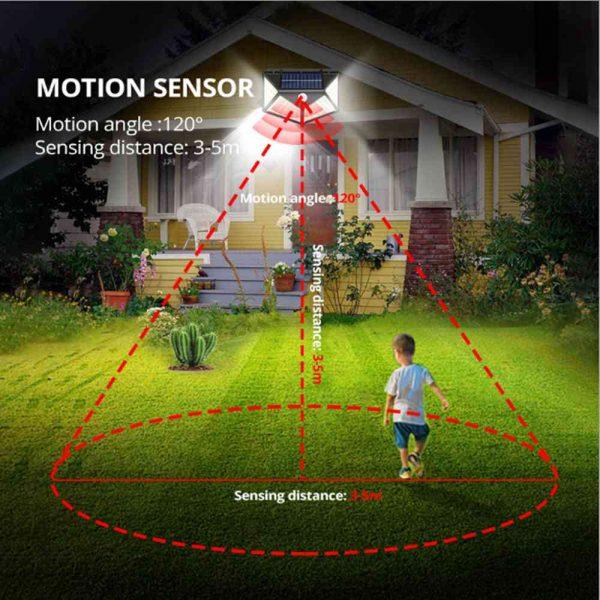 100 Led 2200mah Outdoor Garden Security Lamp Solar Powered Pir Motion Sensor Wall Lights (14)