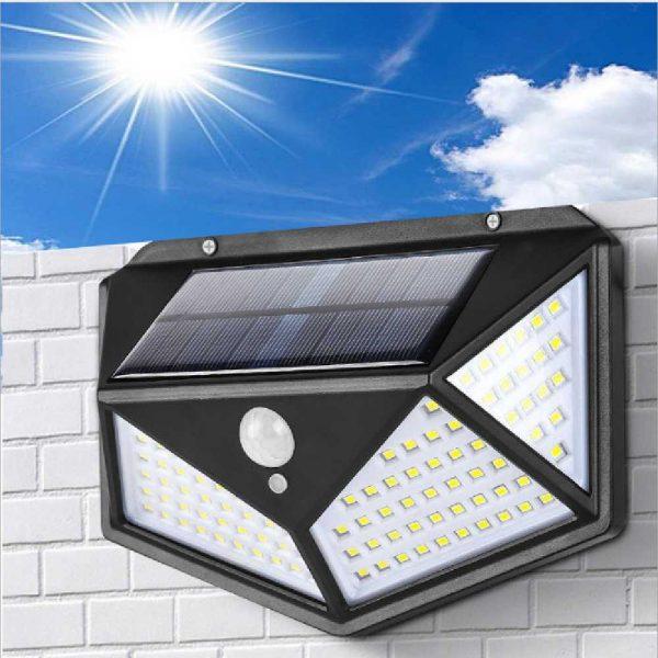 100 Led 2200mah Outdoor Garden Security Lamp Solar Powered Pir Motion Sensor Wall Lights (15)