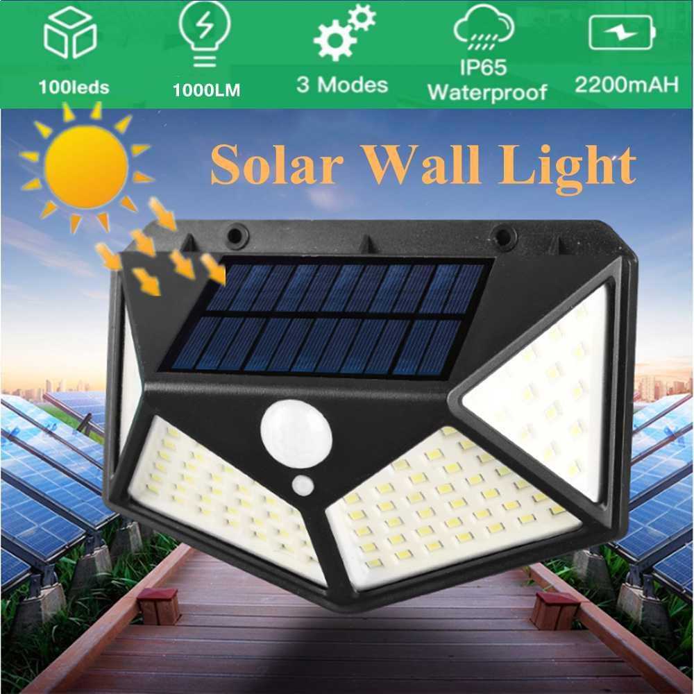 100 Led 2200mah Outdoor Garden Security Lamp Solar Powered Pir Motion Sensor Wall Lights (16)