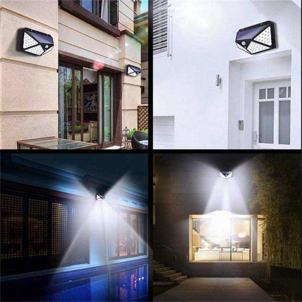 100 Led Solar Powered Pir Motion Sensor Wall Lights Outdoor Garden Security Lamp (16)