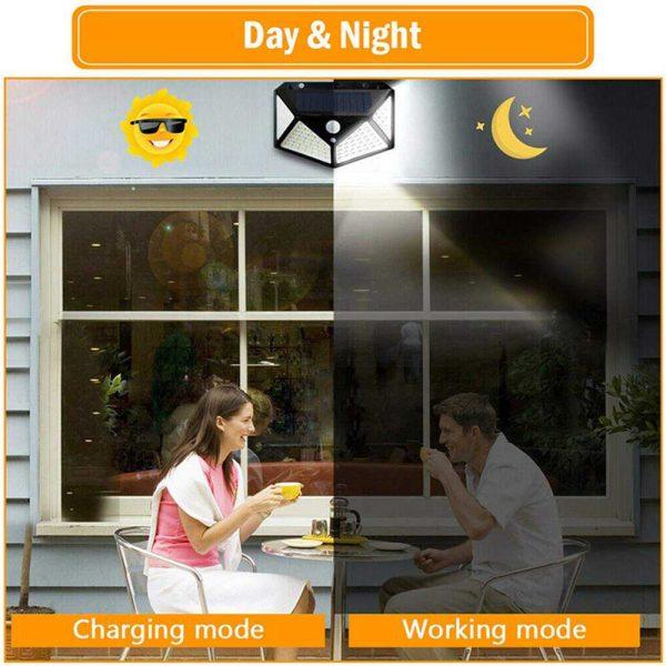 100 Led Solar Powered Pir Motion Sensor Wall Lights Outdoor Garden Security Lamp (23)