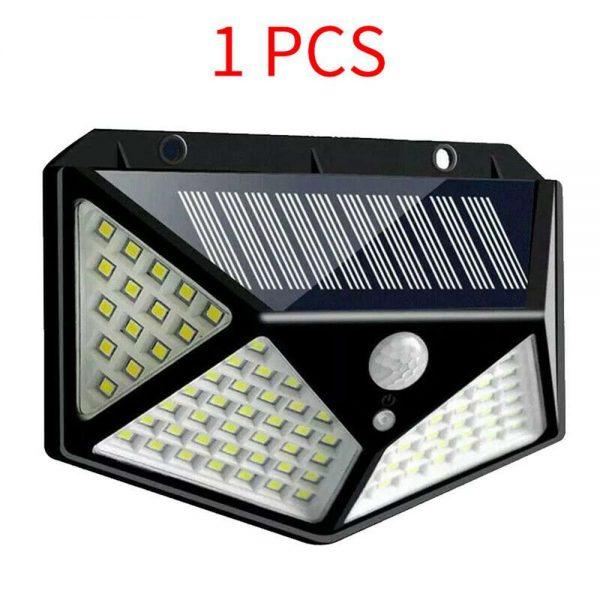 100 Led Solar Powered Pir Motion Sensor Wall Lights Outdoor Garden Security Lamp (9)