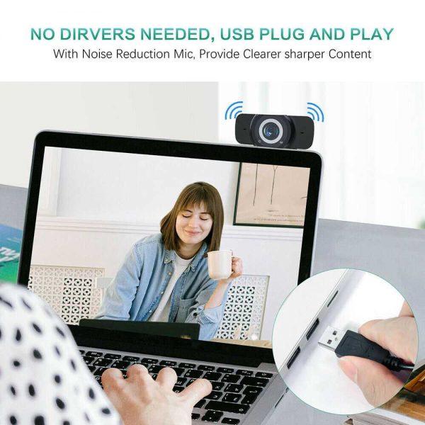 1080p Hd Webcam Auto Focus Camera For Pc Laptop Desktop Tablet Windowsmaclinux (10)