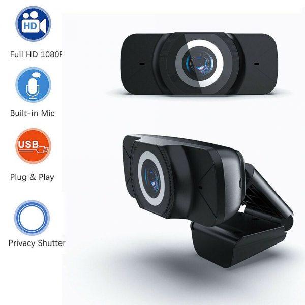 1080p Hd Webcam Auto Focus Camera For Pc Laptop Desktop Tablet Windowsmaclinux (2)