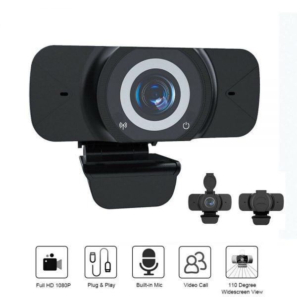 1080p Hd Webcam Auto Focus Camera For Pc Laptop Desktop Tablet Windowsmaclinux (9)