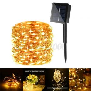 10m Outdoor Solar Copper String Led Outdoor Waterproof String Light Holiday Decoration Garden (1)