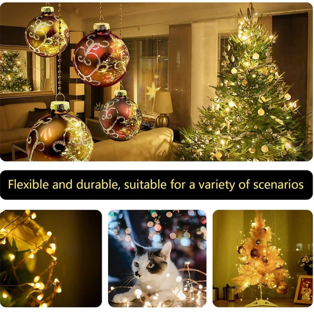 10m Outdoor Solar Copper String Led Outdoor Waterproof String Light Holiday Decoration Garden (11)