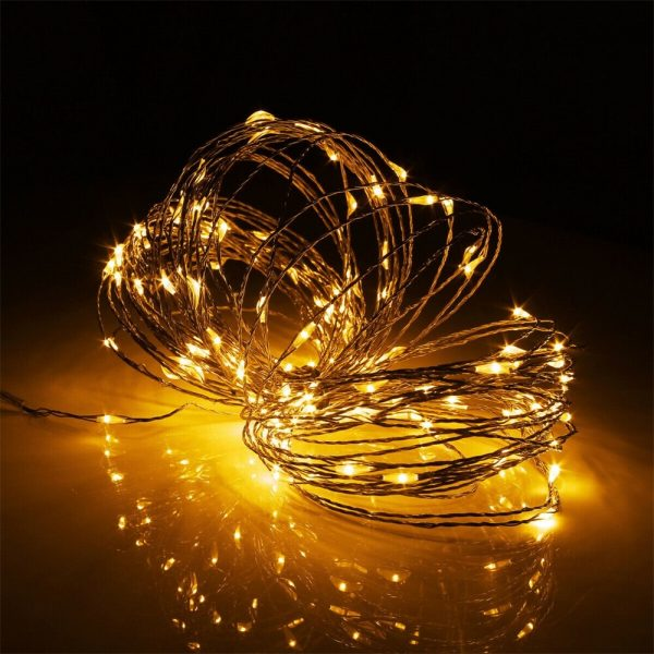 10m Outdoor Solar Copper String Led Outdoor Waterproof String Light Holiday Decoration Garden (12)