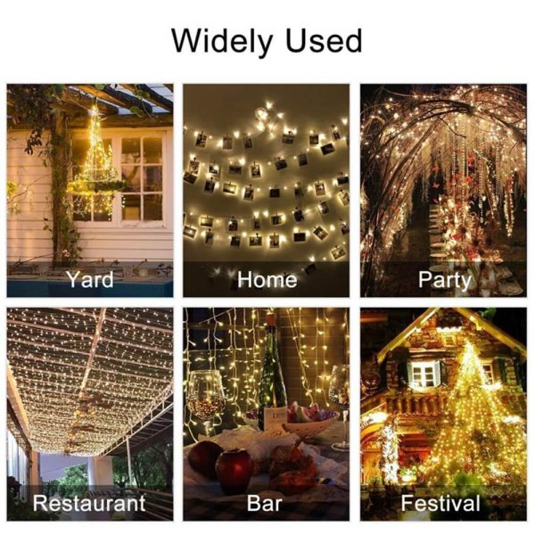 10m Outdoor Solar Copper String Led Outdoor Waterproof String Light Holiday Decoration Garden (7)