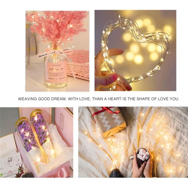 10m Outdoor Solar Copper String Led Outdoor Waterproof String Light Holiday Decoration Garden (8)