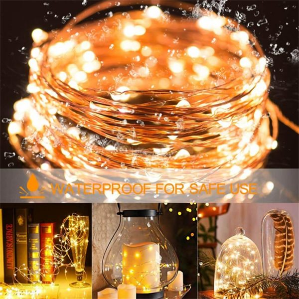 10m Outdoor Solar Copper String Led Outdoor Waterproof String Light Holiday Decoration Garden (9)