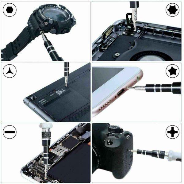 115 In 1 Magnetic Screwdriver Multi Function Professional Repair Fixing Tool Kit (10)