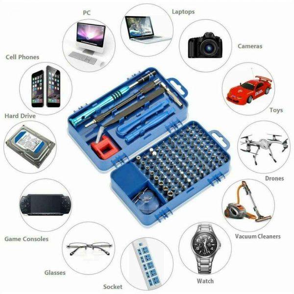 115 In 1 Magnetic Screwdriver Multi Function Professional Repair Fixing Tool Kit (3)