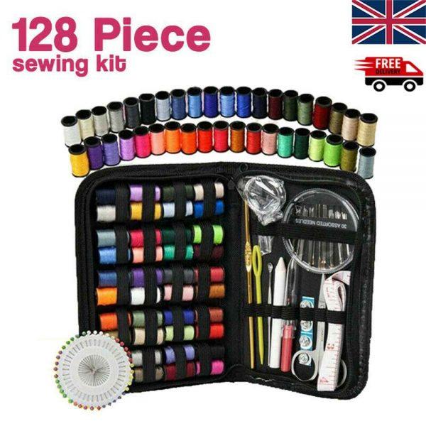 128pcs Diy Multi Function Sewing Box Set Portable Travel Emergency Sewing Kit (2)
