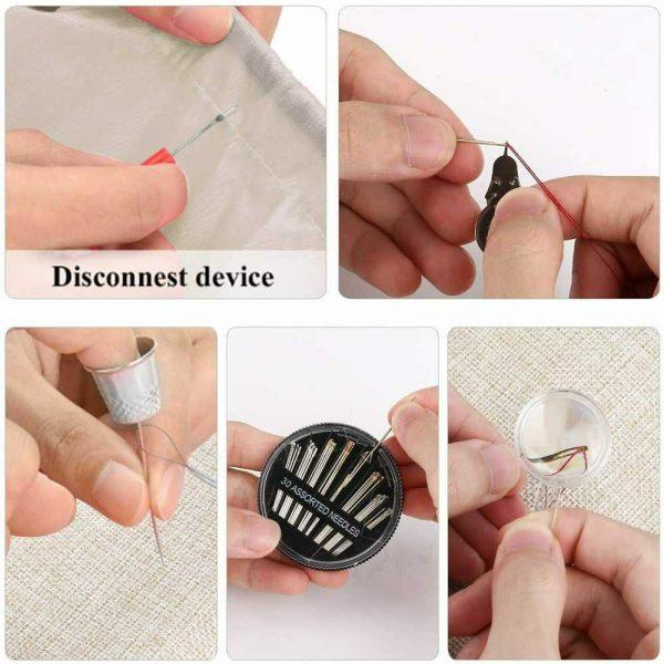 128pcs Diy Multi Function Sewing Box Set Portable Travel Emergency Sewing Kit (6)