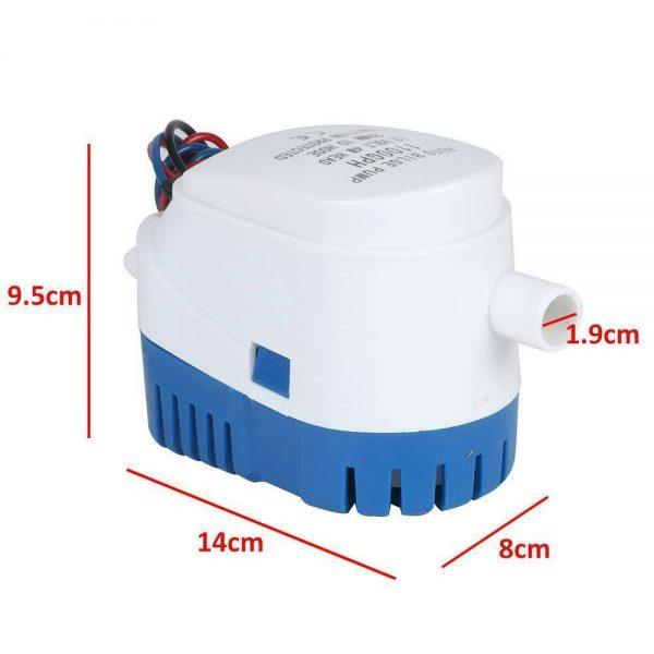 12v 1100gph Marine Automatic Submersible Bilge Pump Auto Float Switch Internal (1)