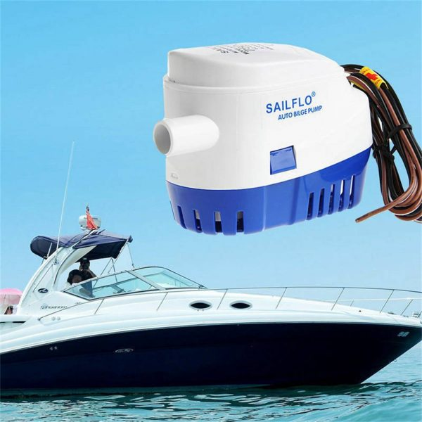 12v 1100gph Marine Automatic Submersible Bilge Pump Auto Float Switch Internal (10)