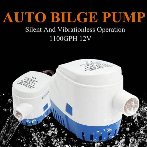 12v 1100gph Marine Automatic Submersible Bilge Pump Auto Float Switch Internal (11)